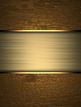 Gold background with yellow texture stripe layout