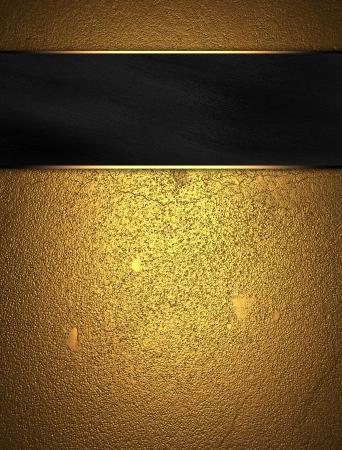 navidad elegante: Fondo del oro negro con placa de identificaci�n Foto de archivo