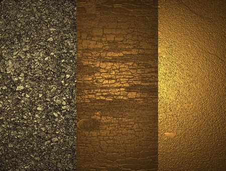 gold plaque: Three textures of gold