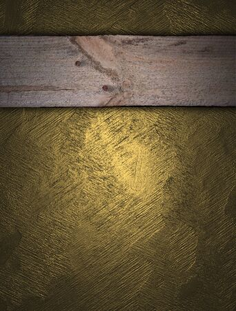 classy background: Gold background with wooden nameplate for writing