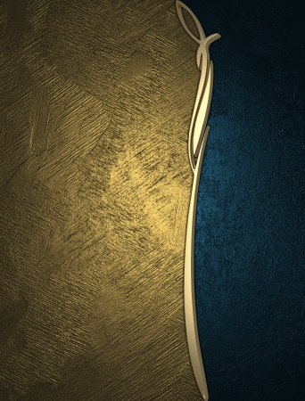 The template for the inscription  Gold and blue texture Stock Photo - 15249342