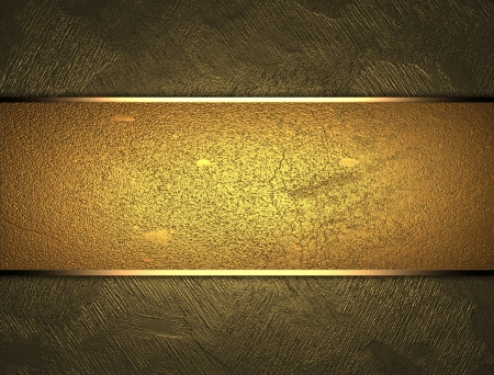 gold background: The template for the inscription  Beautiful gold background with a gold nameplate for writing