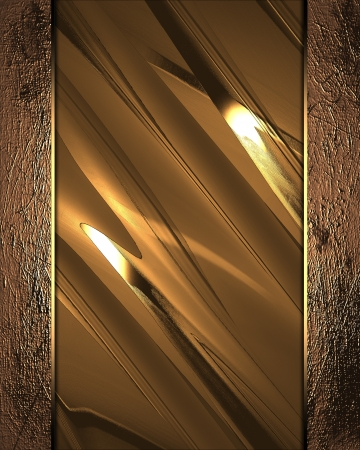 The template for the inscription  Gold background with gold edges Stock Photo - 15250467