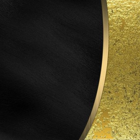 gold decorations: Fondo negro y oro dividido por una raya del oro