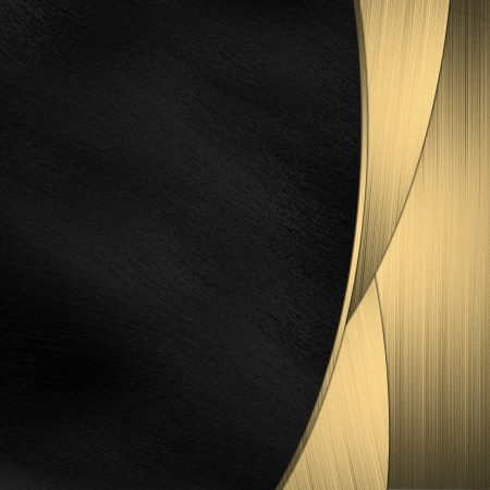 A beautiful black and gold background Stock Photo - 15256515