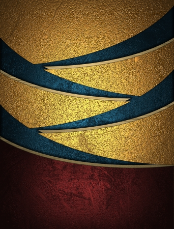 slits: The template for the inscription  Golden abstract background with blue slits
