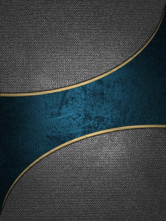 bookmark background: The template for the inscription  Iron background with a blue nameplate