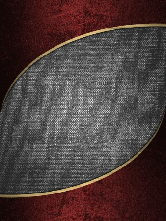 The template for the inscription  Red background with a beautiful golden edges