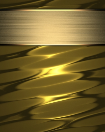 classy background: The template for the inscription  Beautiful gold background with a gold nameplate for writing