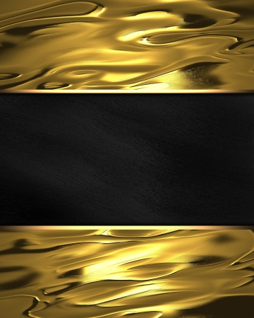 classy background: The template for the inscription  Beautiful gold background with a black nameplate for writing