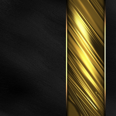 The template for the inscription  Black Background with beautiful gold nameplate   black background  Stock Photo - 15407720