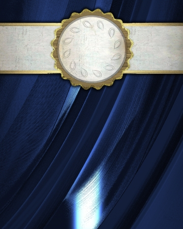 The template for the inscription  Blue Background with white and circle nameplate Stock Photo - 15407760