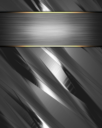 The template for the inscription  Metal Background with beautiful metal nameplate  Stock Photo - 15407742