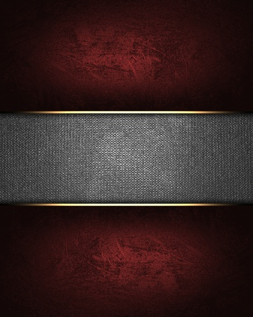 The template for the inscription  Red background with a metal nameplate