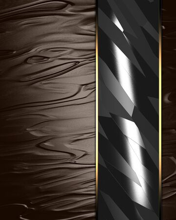 silky: Brown Background  Texture  with a metal nameplate for writing