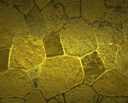 Golden background of stone and brick photo