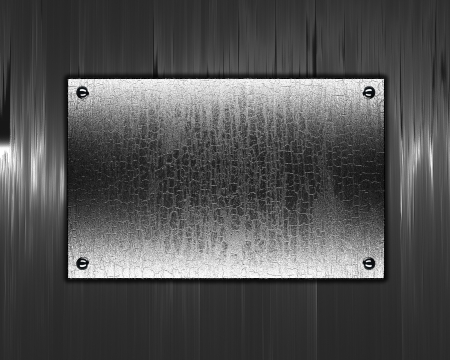 The template for the inscription  Beautiful metal background with a metal nameplate for writing  Stock Photo - 15852892