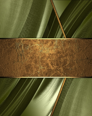 classy background: The template for the inscription  Green Background with gold nameplate for writing