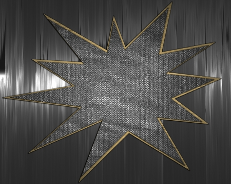 The template for the inscription  Metal Background with metal star nameplate Stock Photo - 15909792