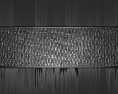 The template for the inscription  Metal Background with metal nameplate  Stock Photo - 15909787