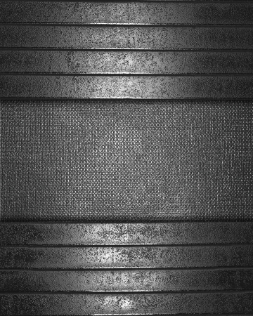 The template for the inscription  Metal Background with metal nameplate for writing Stock Photo - 16064870