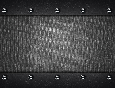 The template for the inscription  Metal Background with metal plates with rivets at the edges Stock Photo - 16064877