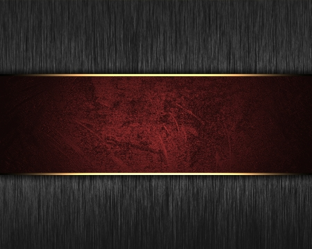 elegant background: The template for the inscription  Metal Background with red nameplate for writing