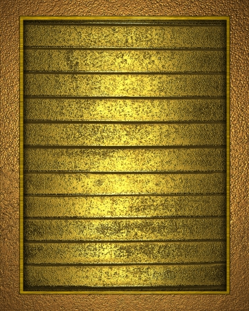 The template for the inscription  Beautiful gold Background with gold nameplate for writing  photo