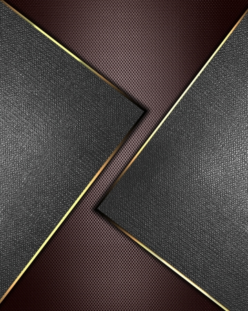 The template for the inscription  Brown Background with metal nameplate for writing  Abstract background