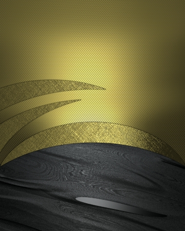 The template for the inscription  Gold Background with abstract gold pattern and black texture  photo