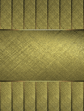 detail invitation: The template for the inscription  Beautiful gold Background of the strips, and gold nameplate for writing  Stock Photo