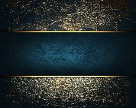 classy background: The template for the inscription  Shabby gold background with blue name plate for writing