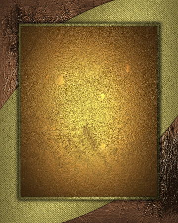 The template for the inscription  Gold Background with abstract gold pattern and gold nameplate  photo