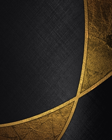 gold plaque: The template for the inscription  Abstract black background with gold inserts
