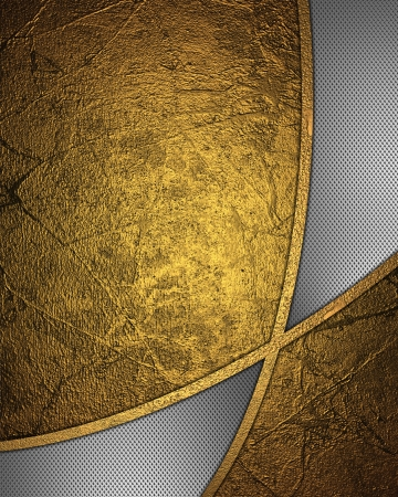 The template for the inscription  Abstract gold background with metal inserts   Archivio Fotografico