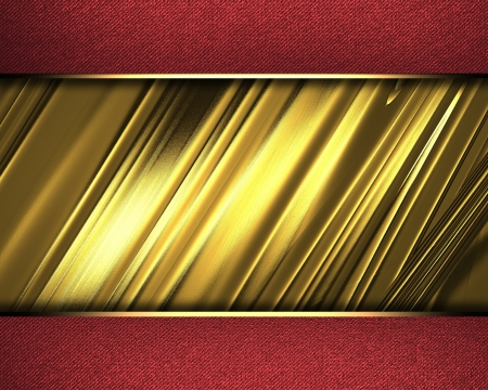 classy background: The template for the inscription  Abstract Gold Background with red edges