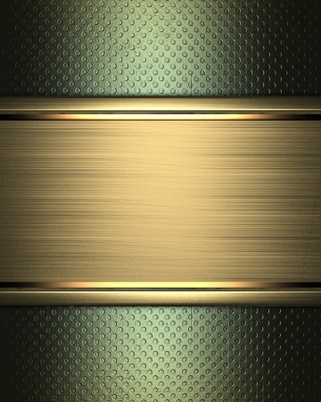 The template for the inscription  Abstract green Background with gold nameplate for writing Stock Photo - 16268974