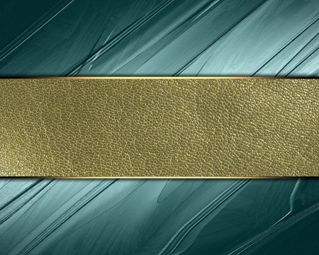 classy background: The template for the inscription  Abstract green Background with gold nameplate for writing   Stock Photo