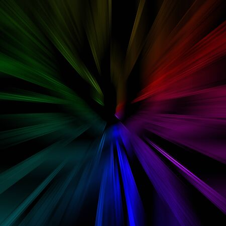 Black background with abstract color lines Stock Photo - 16383410