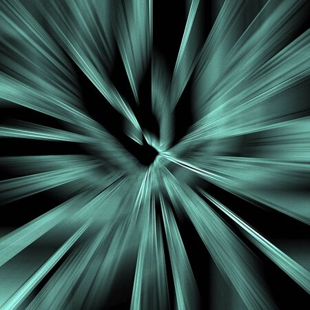 Black background with abstract blue lines Stock Photo - 16383417