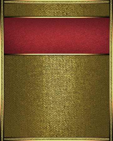 The template for the inscription  Gold background with red nameplate Stock Photo - 16383518