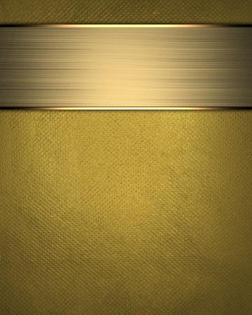 fondo elegante: La plantilla para la inscripci�n del fondo de oro con placa de identificaci�n oro