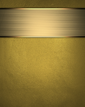 The template for the inscription  Gold Background with gold nameplate