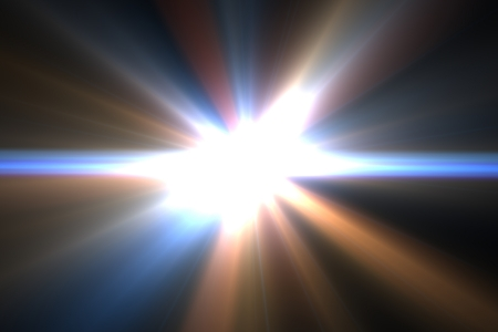 Design template - Star, sun with lens flare. Rays background. Stock Photo - 16462740