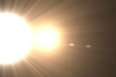 Design template - Star, sun with lens flare. Rays background. Stock Photo - 16462738