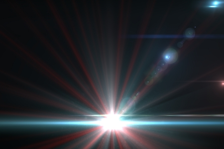 Design template - Star, sun with lens flare  Rays background