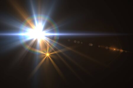 Design template - Star, sun with lens flare  Rays background  Stock Photo - 16561680