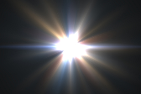 Design template - Star, sun with lens flare. Rays background. photo