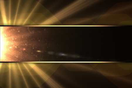 Design template - The background of the rays of the stars, with the nameplate. photo