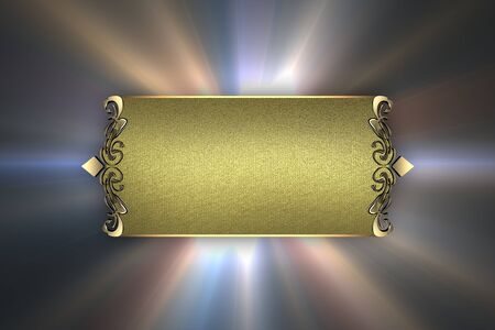 Design template - The background of the rays of the stars, with the gold nameplate. photo